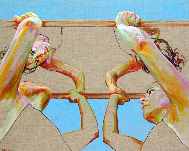 Cristina Troufa - Contemporary Artist - Figurative Painting - Roof - 2015
