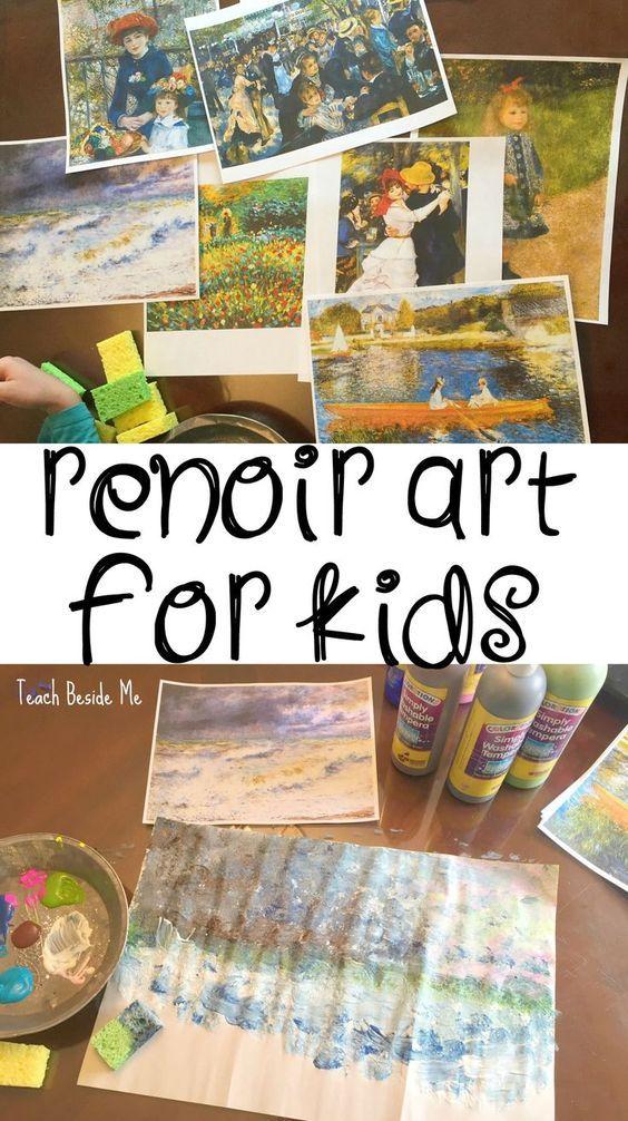 Renoir Art Project for Kids via @Karyn ~ Teach Beside Me