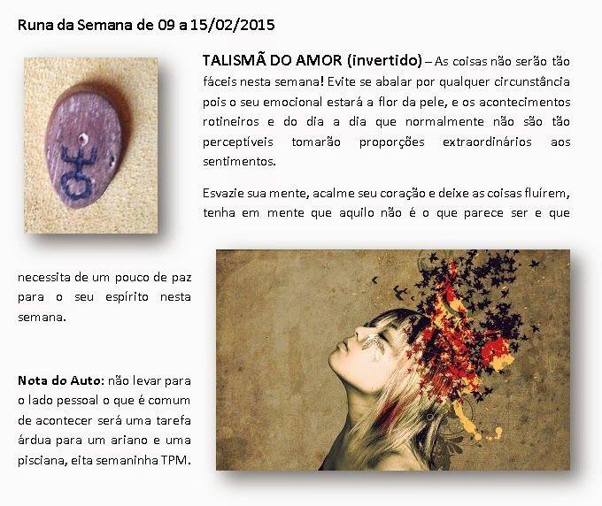 MAURICIO FERREIRAA: Runa da Semana de 09 a 15/02/2015