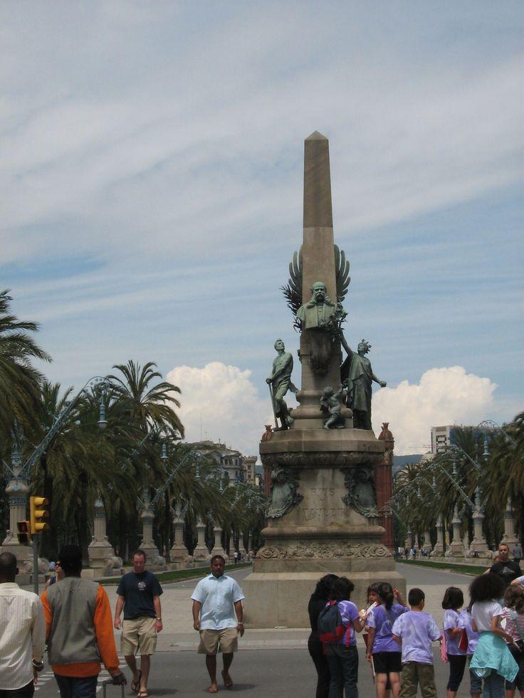 Rius i Taulet monument Barcelona