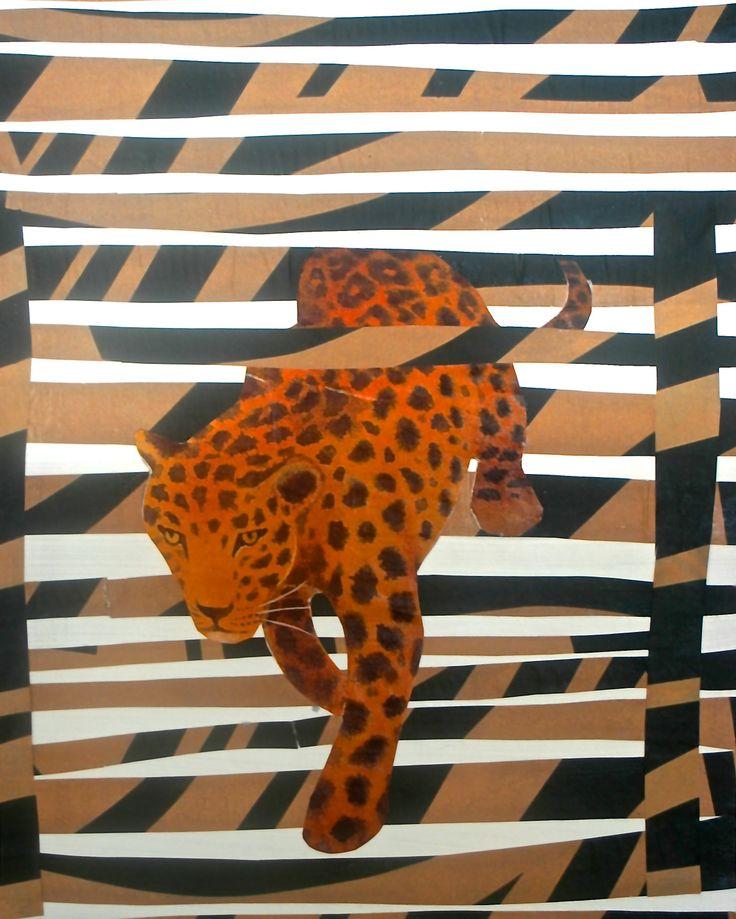 Artist Ifigenia Christodoulidou  #collage on panel