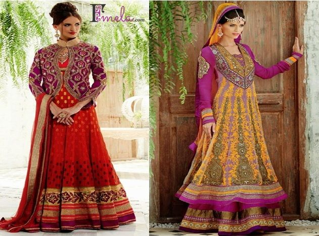 latest design of #gorgeous collection of #Anarkali Suit at fmela.com