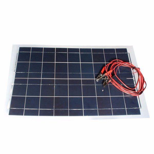30w 12v painel solar carregador de bateria do dispositivo semi flexível
