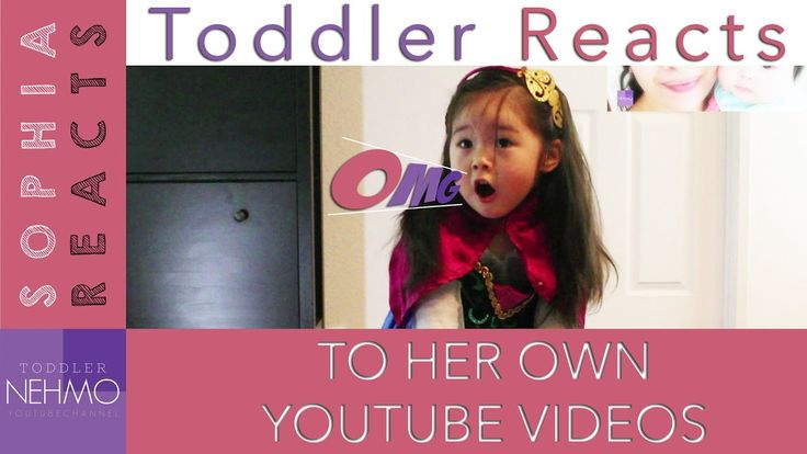 Toddler Reacts to her own YouTube Videos