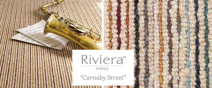 Riviera Carpets Carnaby Street, is a chunky, multi-colour stripe made in 100% Wool in a rugged loop pile construction which will perform well anywhere in the home. Available in 6 fashionable colours and in 4 meter width.