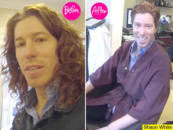 I remember when Shawn White his hair was long... Really long!
