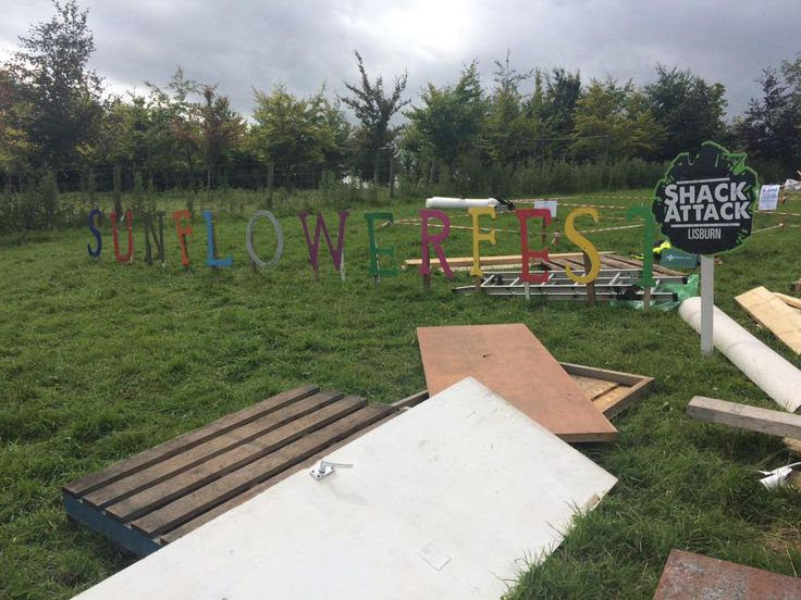 Almost ready for #ShackAttack to start. We're right opposite the main stage @sunflower_fest so come visit us!