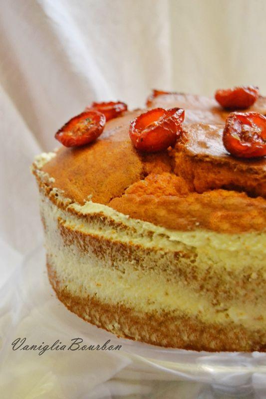 Chiffon cake salata al pomodoro e bufala