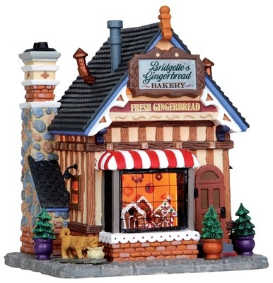 Lemax Bridgette's Gingerbread Bakery Lighted House Christmas Train Village Town | eBay