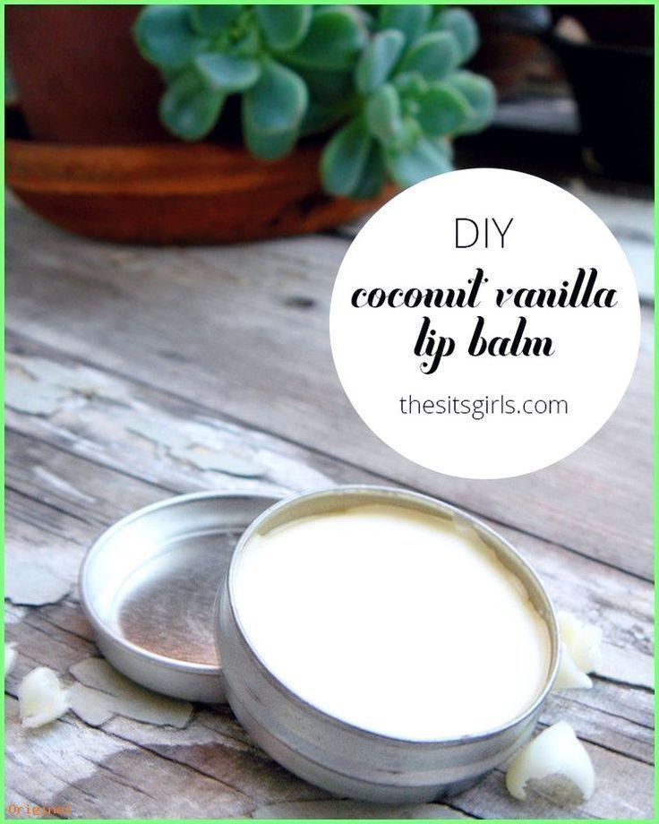 50+ Skin Care - This homemade recipe for coconut-vanilla lip balm is ...  -  Hautpflege-Rezepte