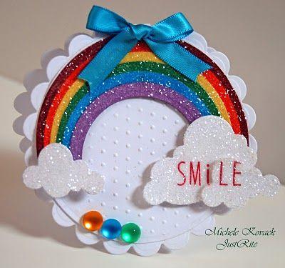 A Fun way to make a rainbow card using @Spellbinders dies!