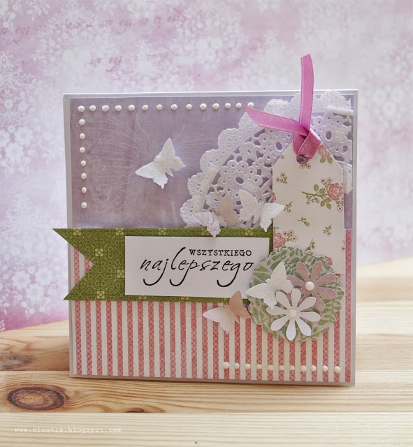 Preparing for big crafts fair:) Best wishes card in pastels