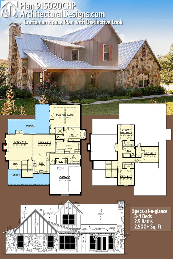 Architectural Designs House Plan 915020CHP gives you