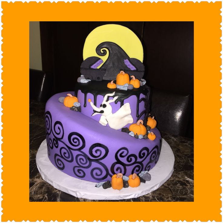 nightmare before christmas baby shower cake for twins