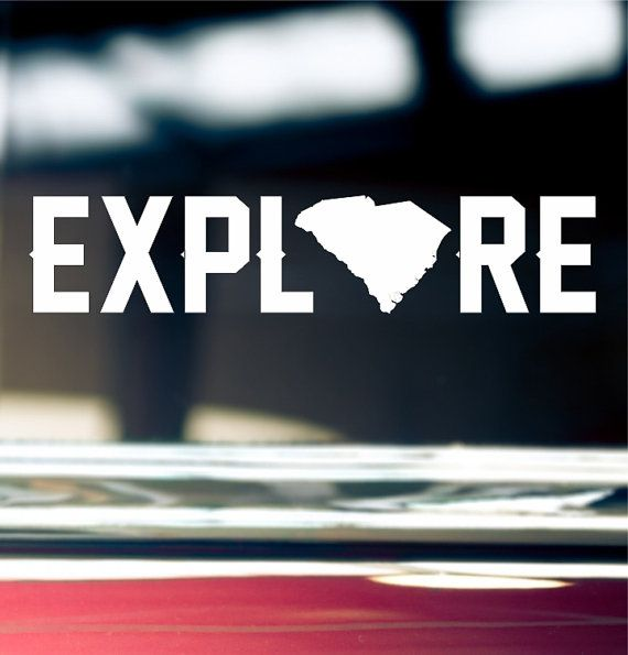 South Carolina is yours to explore! This explore South Carolina Sticker will look great on your car window, bumper, or laptop.  Easy to apply to any