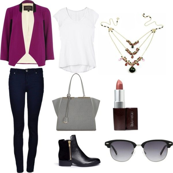 """Office look with Statement Necklace"" by mounirjewellery on Polyvore"