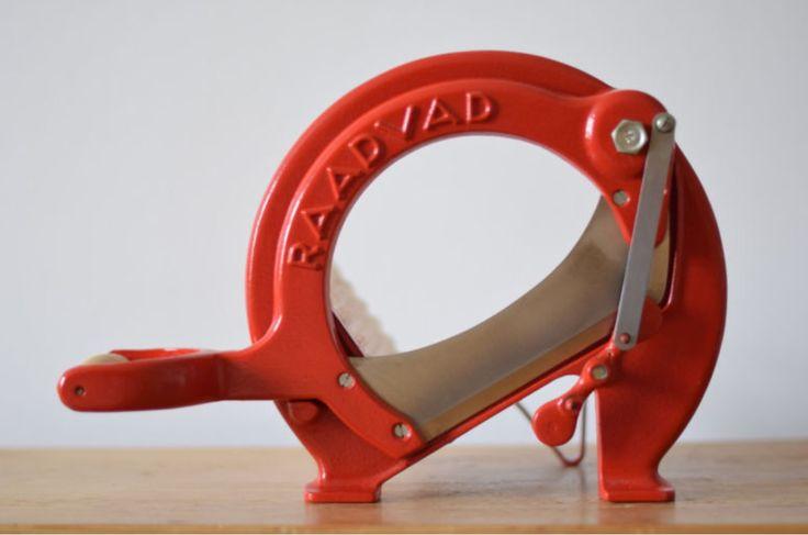 Vintage Bread Slicer - Red