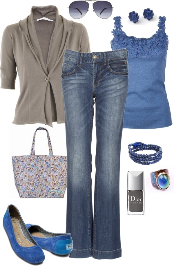 """""""Royal Blue and Gray"""" by pamnken on Polyvore"""