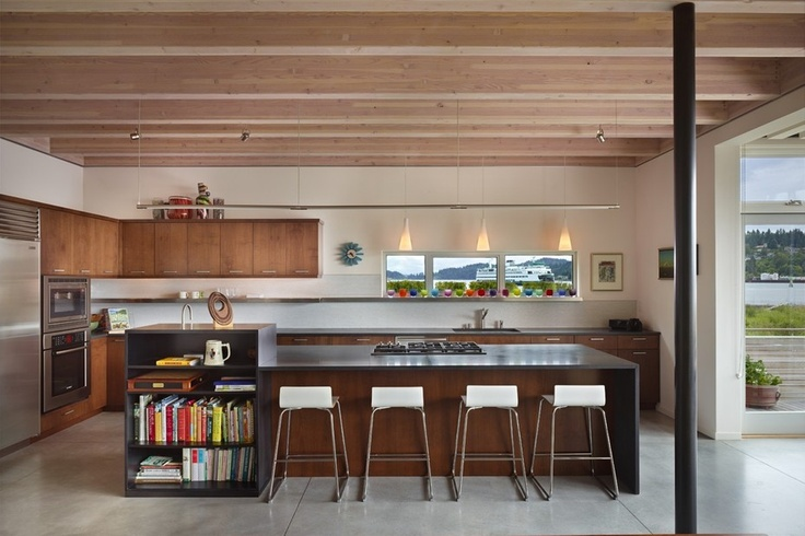 A contemporary kitchen made with sustainable materials. Discovered on search.porch.com #interiordesign #decor #kitchens