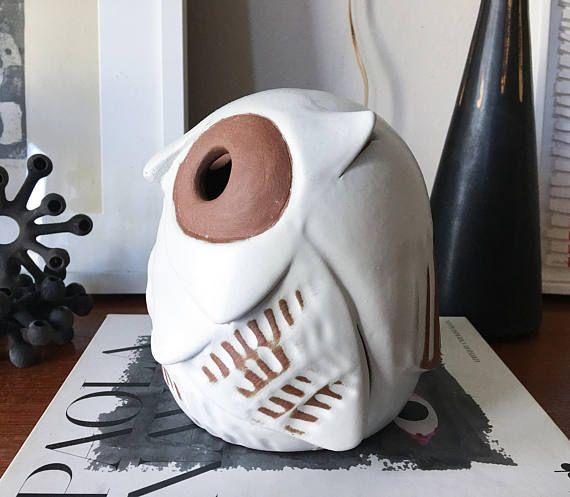 Rare Owl Lantern California Pottery by SDW Designs West Raul