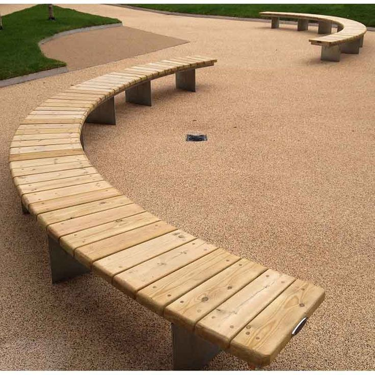 Pwp1610 Piper Curved Bench Bespoke Curved Timber Radius
