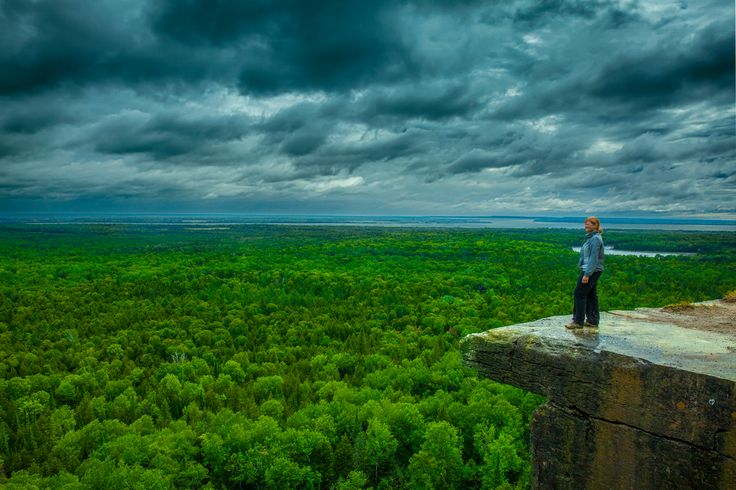 The View from the Cup and Saucer Trail on Manitoulin Island in Northeastern Ontario #NEOntario