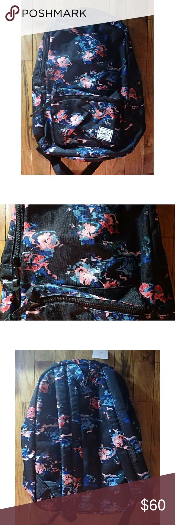 """Herschel Floral Black Backpack - New 🆕 Brand new, never worn, no damage. Approximately 16.5""""x11""""x5"""".  👍 Smoke-free, pet-free household.   🚫 No trades/swaps!  🚫 No holds!  🚫 No low-balling!  🚫 No PayPal!   ✔ Reasonable offers welcomed! Please use the offer button so I know you are serious about the item! I will not respond to price negotiations via comments.  ✔ I love bundling! Not only will you get ONE shipping fee, I will also discount your combined total! Please ask me in the…"""