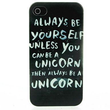 Be Youself Letter Pattern Hard Case for iPhone 4/4S – EUR € 1.91