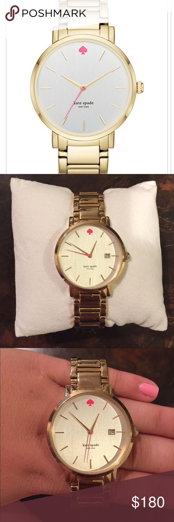 KATE SPADE GOLD GRAMERCY WATCH Lightly used Kate Spade Gold Gramercy Watch- Only worn a few times! Great condition! Looks new!  Will include box and watch instruction manual kate spade Accessories Watches