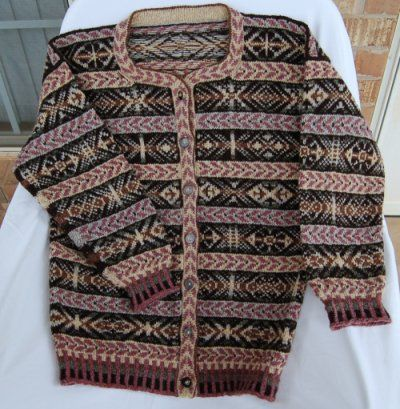 Meg Swanson Fair Isle cardigan.  lpahdoco, via Flickr & Ravelry. I have the yarn for this!