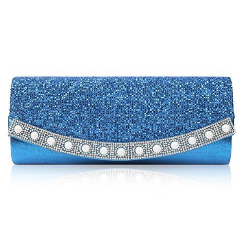 New Trending Make Up Bags: Damara Womens Shiny Honeycomb-Shaped Sequins Flap Wedding Bag,Blue. Damara Womens Shiny Honeycomb-Shaped Sequins Flap Wedding Bag,Blue  Special Offer: $19.99  422 Reviews This evening bag adds a elegant appearance to any outfit in any season.The evening bag features a snap closure shining flap on the front .This evening bag has an extra small shape and...