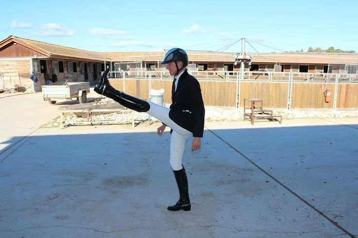 ALWAYS stretch before riding even if you look like John Cleese !!!!!