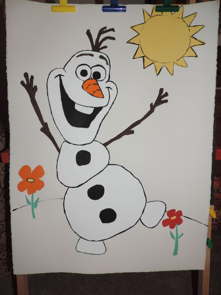 FROZEN party Pin the carrot on Olaf Steine