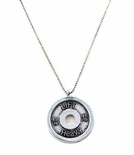 LOVE THIS Bumper Plate 'Lift Heavy' Necklace by unbrokendesigns on Etsy, $32.00