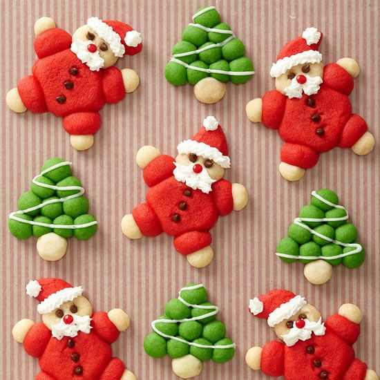 The dough for these adorable cookies comes from five basic ingredients. More Christmas cookie ideas: http://www.bhg.com/christmas/cookies/christmas-cookie-ideas/
