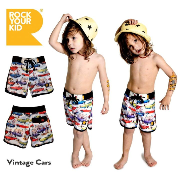 Vintage Cars boardshorts | Rock Your Kid | Rock Your Baby | www.rockyourbaby.com
