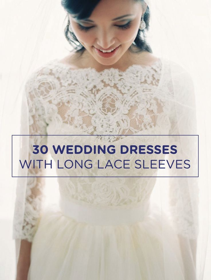 Check out these gorgeous wedding dresses with lace sleeves!