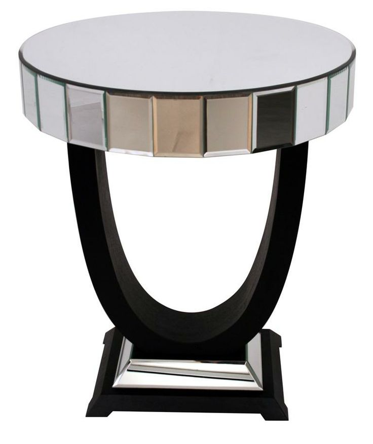 Art Deco Side Table Mirrored Furniture Family K