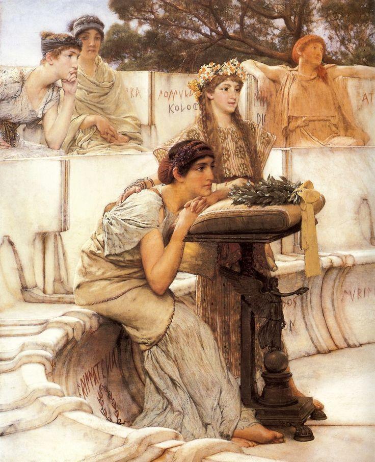 Sappho and Alcaeus (Detail) ~ Sir Lawrence Alma-Tadema ~ (Dutch: 1836-1912)