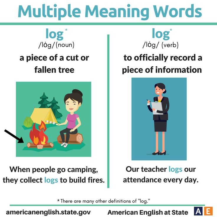 Multiple Meaning Words: Log