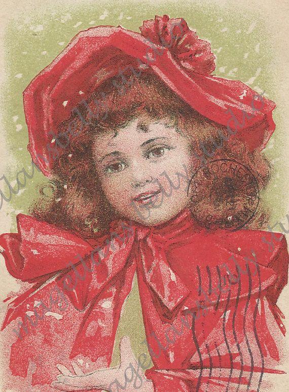 CIJ+SALE+Christmas+Postcard+1900's+Our+Pet+by+MagellansBellyStudio,+$4.50