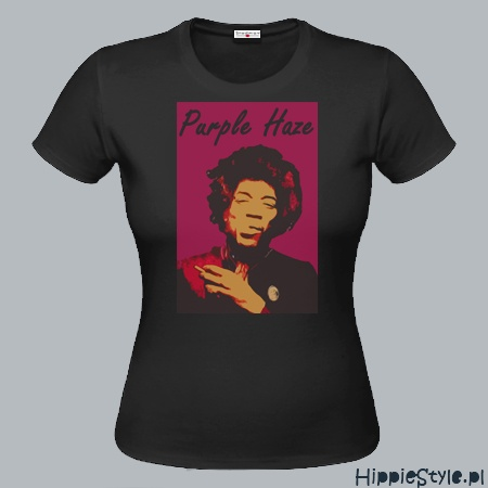 koszulka T-shirt Jimi Hendrix PURPLE HAZE girl
