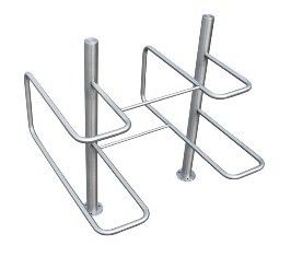 Double parking bicycle stand made of galvanized steel