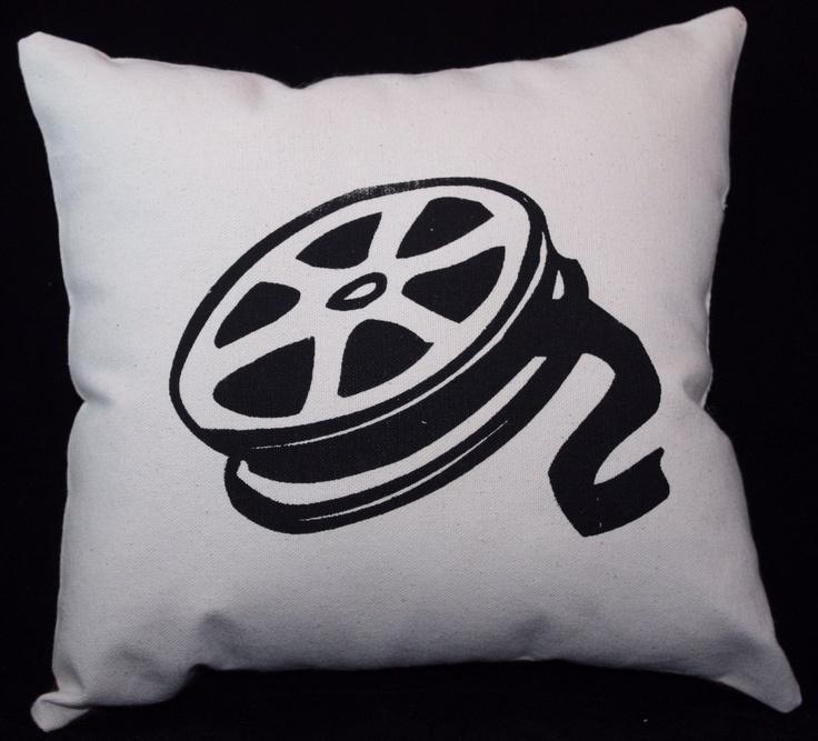 MOVIE REEL HOME THEATRE DECOR pillow