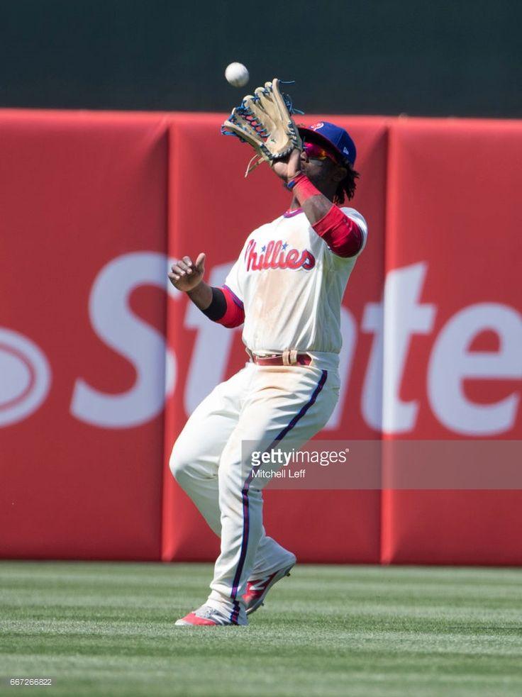 Odubel Herrera #37 of the Philadelphia Phillies plays against the Washington Nationals at Citizens Bank Park on April 9, 2017 in Philadelphia, Pennsylvania. The Phillies defeated the Nationals 4-3.