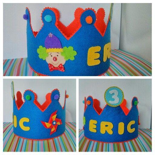 Geburtstags Krone handgefertigte Filz, in verschiedenen Farben erhältlich.