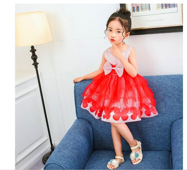 >> Click to Buy << 2017 summer children's clothing girls Peng Peng small yarn dress  primary and secondary school children's dance dress 4-7Y #Affiliate