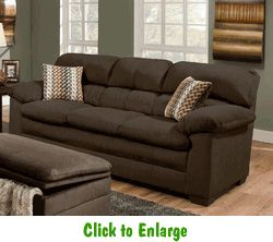 Lakewood Cappuccino Sofa By Simmons At Furniture Warehouse | The $399 Sofa  Store | Nashville,
