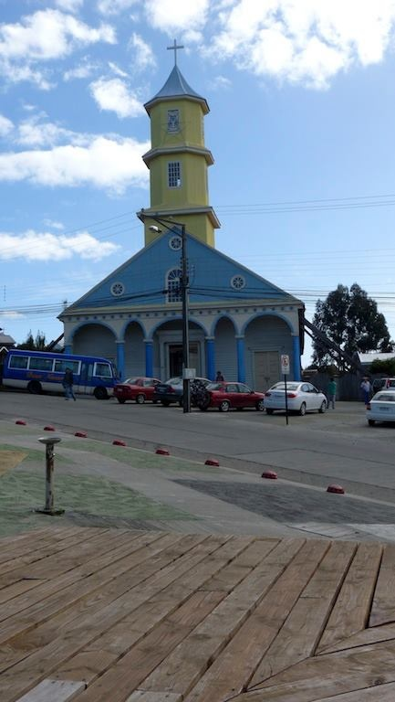 Island Chiloé, Chonchi, South Chile. Maya wasn't very religious, but maybe she would have passed by this church.