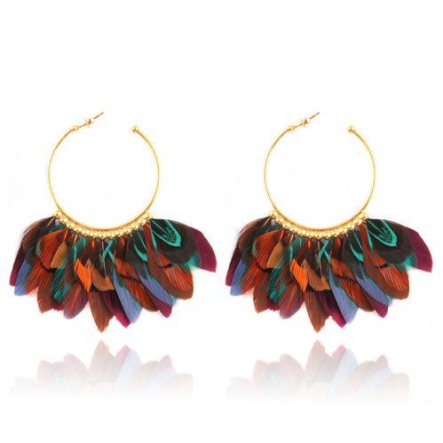 Gas Bijoux boucles d'oreilles plumes